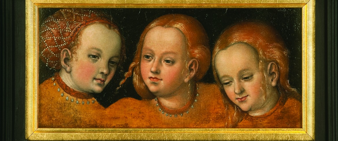 Study of Three Girls' Heads-Lucas Cranach the Elder
